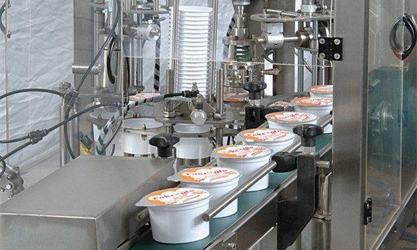 Automātiska saldējuma kausa pildīšanas blīvēšanas mašīna