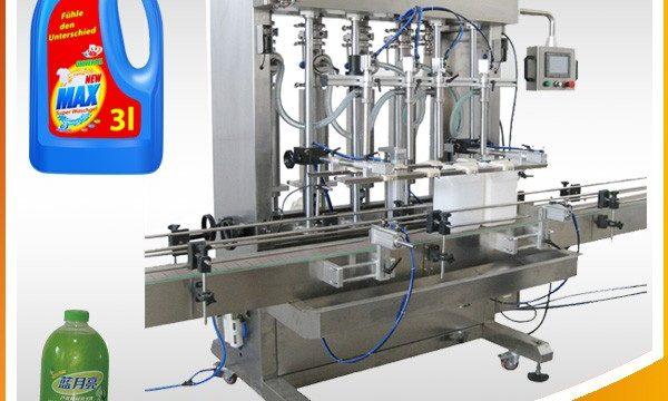 Divkārša galvas automātiska virzuļa veida šķidruma iepildīšanas mašīna