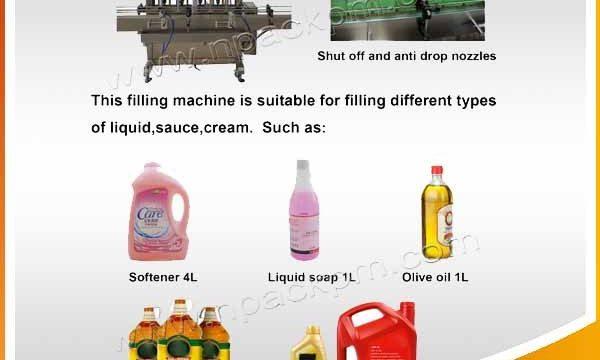 Automātiska 2, 4, 6, 8, 10, 12 galviņu pārtikas eļļas iepildīšanas mašīna