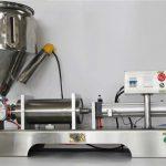 Tīra pneimatiskā pusautomātiskā augļu ievārījuma pildīšanas mašīna