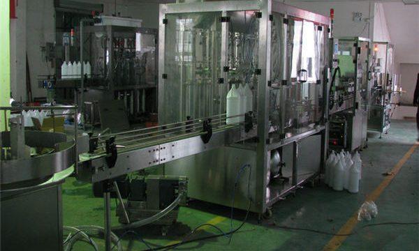 Automātiska šampūna pildītāja / šampūna iepildīšanas mašīna / šampūna uzpildes līnija